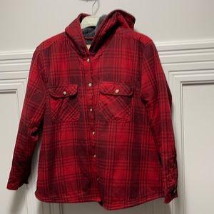 Fleece Lined Hooded Flannel